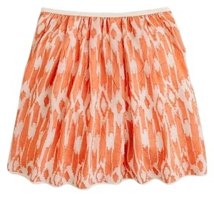 J.Crew Mini Skirt orange multi