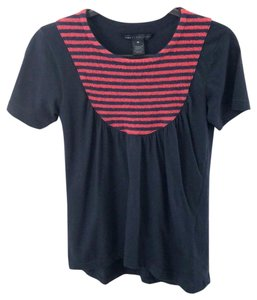 Marc by Marc Jacobs T Shirt Navy Blue and red and blue stripes