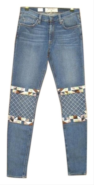 Miss Me Blue Medium Wash Moto Skinny Jeans Size 4 (S, 27) Miss Me Blue Medium Wash Moto Skinny Jeans Size 4 (S, 27) Image 1