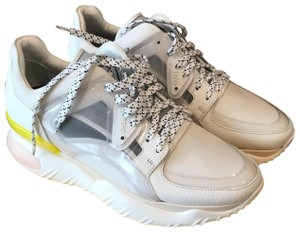 Fendi White Leather Athletic