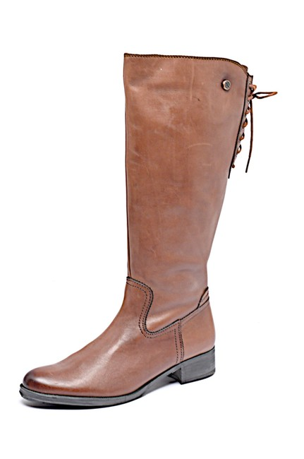 """Item - Brown Chestnut Leather 1.75"""" Heel Tall with Rear Lace Up Boots/Booties Size EU 41 (Approx. US 11) Regular (M, B)"""