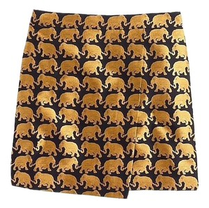 J.Crew Mini Skirt black gold