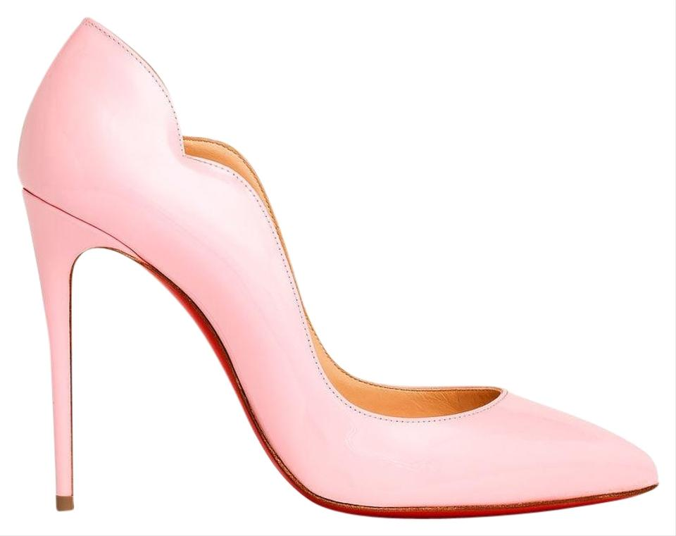 watch 434a7 37dc4 Christian Louboutin Pink Hot Chick 100 Scallop Patent Pigalle So Kate Pumps  Size EU 38 (Approx. US 8) Regular (M, B)