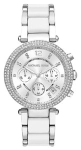 Michael Kors White/Silver Women's Parker Chronograph Watch