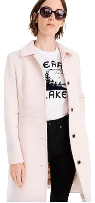 Item - Cream Double-cloth Lady Day Coat Size 14 (L)