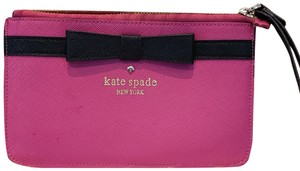 Kate Spade Leather Wristlet in Pink and Black