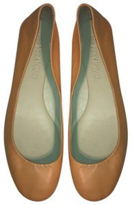 Vera Wang Peach / Orange / Tan Flats