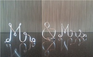 Silver Wired Mr & Mrs Reception Decoration