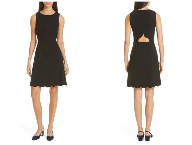 Kate Spade Black Scalloped Cut-out Short Casual Dress Size 8 (M) Kate Spade Black Scalloped Cut-out Short Casual Dress Size 8 (M) Image 1