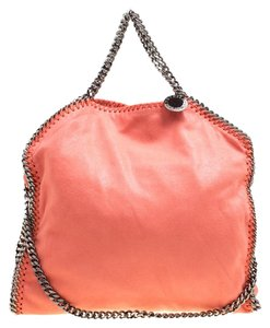 Stella McCartney Coral Faux Leather Tote in Orange