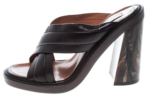 Stella McCartney Quilted Leather Brown Sandals