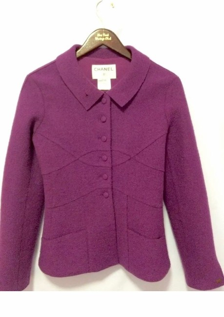 Chanel Color Rasberry Blazer Image 3