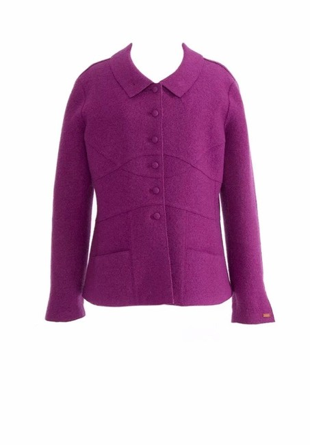 Chanel Color Rasberry Blazer Image 5