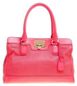 Cole Haan Leather Tote in Pink