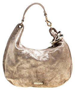 Jimmy Choo Leather Suede Hobo Bag