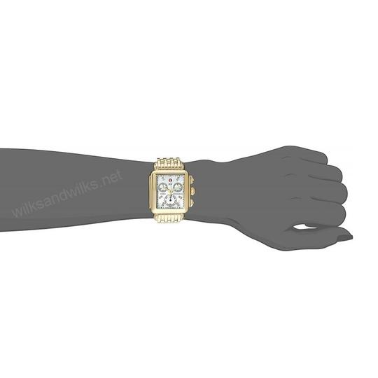 Michele Deco Stainless Steel Mother Of Pearl Diamond Dial MWW06P000016 Image 3