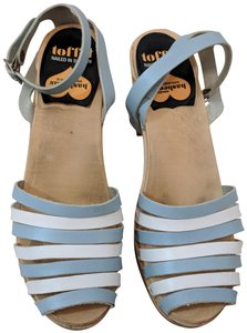 swedish hasbeens Ankle Strap Skyhigh Skyhigh Baby Blue Mules