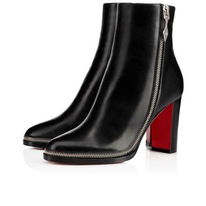 Christian Louboutin Telezip Chain Black Boots