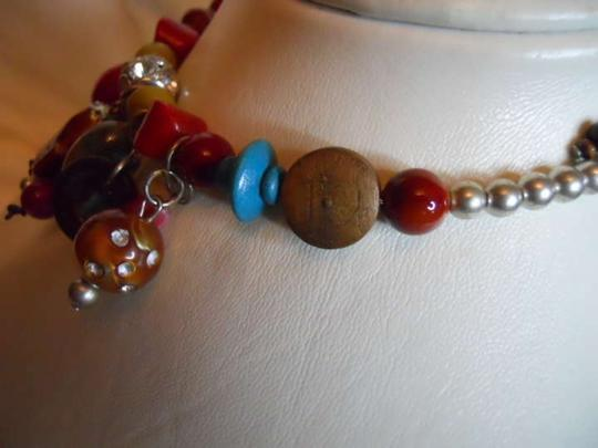 unknown Ceramic & wood beaded necklace