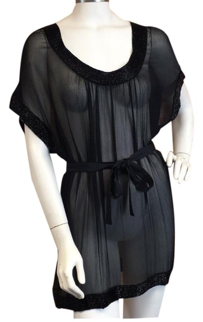 Item - Black Sheer Cover-up/Sarong Size OS (one size)