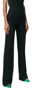 Emilio Pucci Flared Tailored High Waist Trouser Pants Black