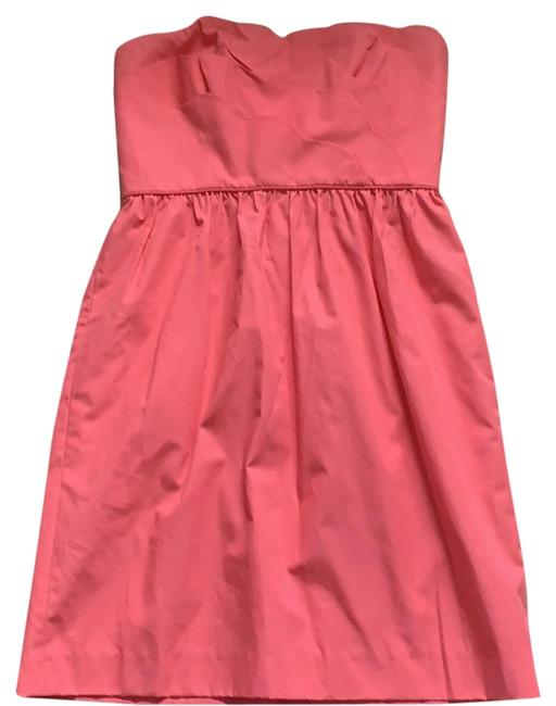 Item - Pink Coral Strapless Collection Short Cocktail Dress Size 2 (XS)