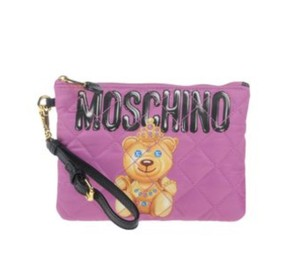 Moschino Chic Pink Tufted Light Purple Clutch