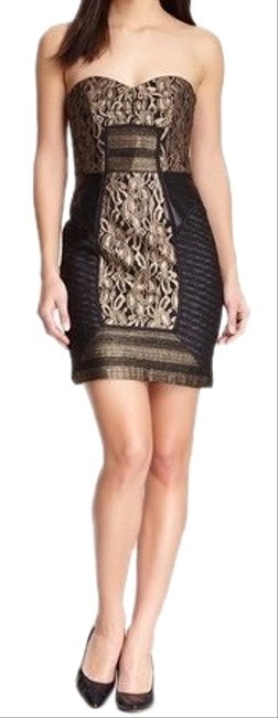 Item - Black/Gold Cb90001 Short Cocktail Dress Size 6 (S)
