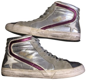 Golden Goose Deluxe Brand Silver/red Athletic