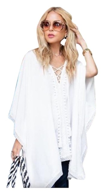 Item - White Tunic Cover-up/Sarong Size OS (one size)