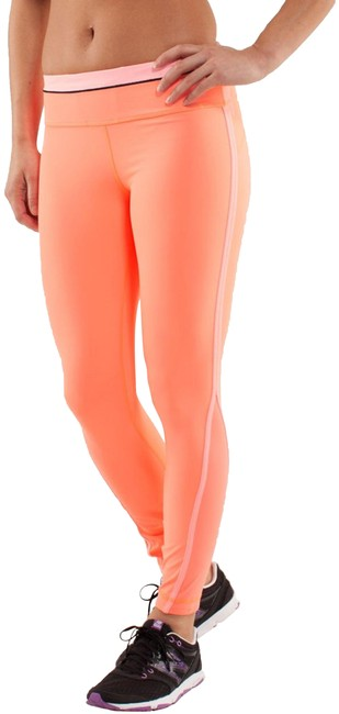 Item - Orange Run Pace Tight Activewear Bottoms Size 10 (M, 31)
