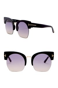 Tom Ford Savannah 55mm Clubmaster Sunglasses