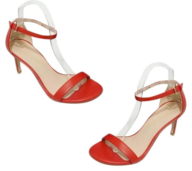 Item - Red Nunakedstraight Nappa Women's Sandals Size US 6.5 Wide (C, D)