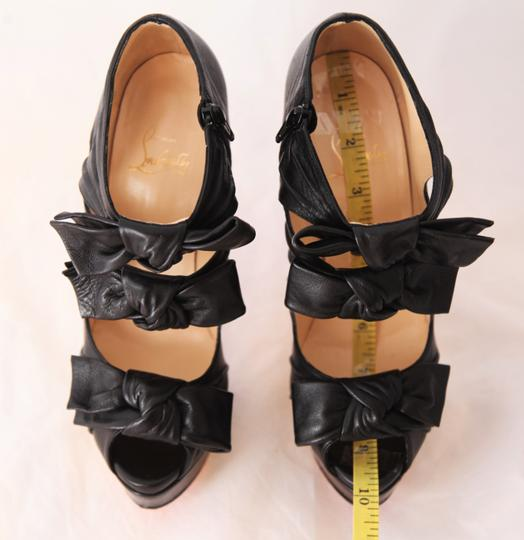 Christian Louboutin Thigh Pigalle Pumps Studs Spikes Sandals Slingback Ankle Black Boots Image 10