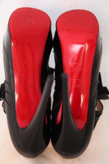 Christian Louboutin Thigh Pigalle Pumps Studs Spikes Sandals Slingback Ankle Black Boots Image 11