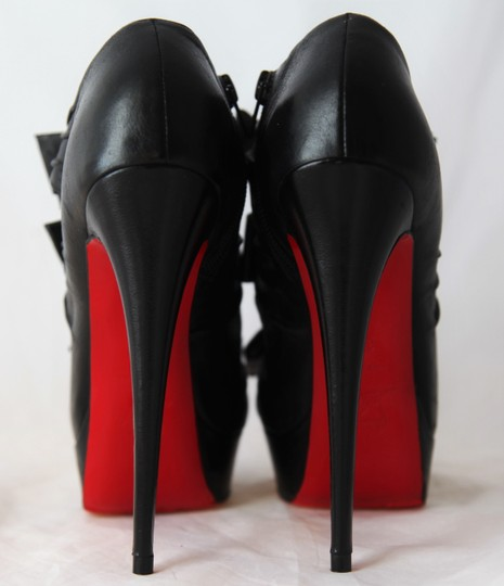 Christian Louboutin Thigh Pigalle Pumps Studs Spikes Sandals Slingback Ankle Black Boots Image 9