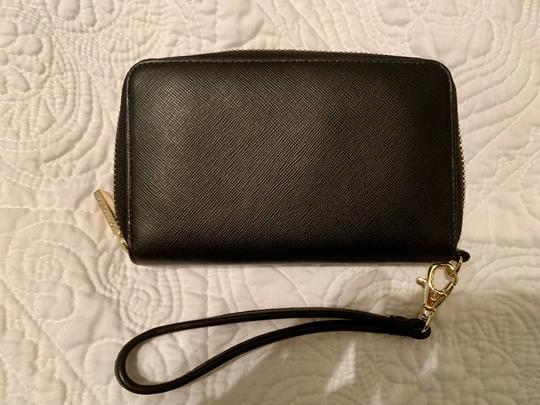 Tory Burch Robinson Continental Wallet - Black Saffiano Leather - Like New - Image 1