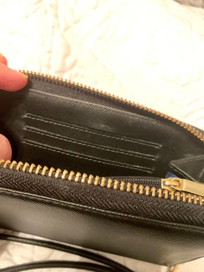 Tory Burch Robinson Continental Wallet - Black Saffiano Leather - Like New - Image 2