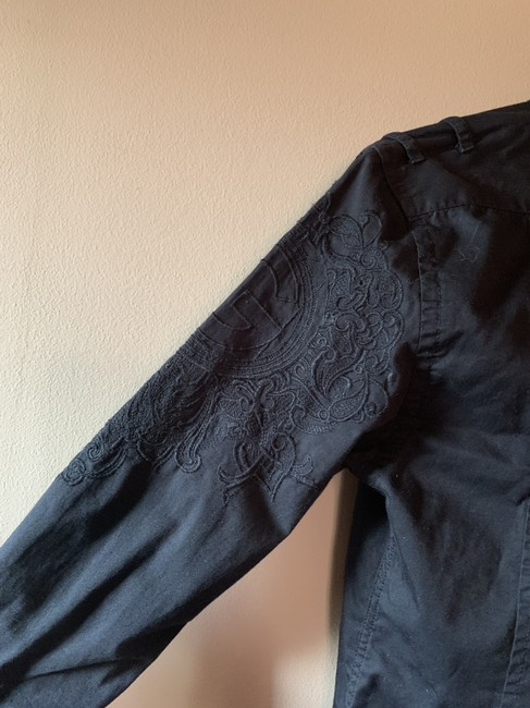 Guess G By Embroidery Shirt Mens Button Down Shirt Black Image 5
