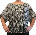 La City Excellent Condition Easy To Wear Very Comfortable Top Black and white