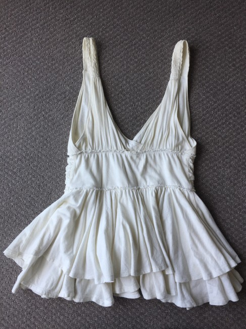 Abercrombie & Fitch Summer Cotton Easy To Wear Pretty Top White Image 1