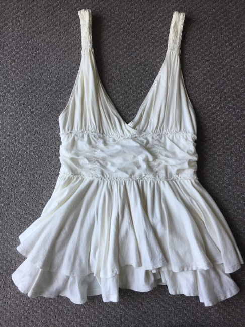 Abercrombie & Fitch Summer Cotton Easy To Wear Pretty Top White Image 2