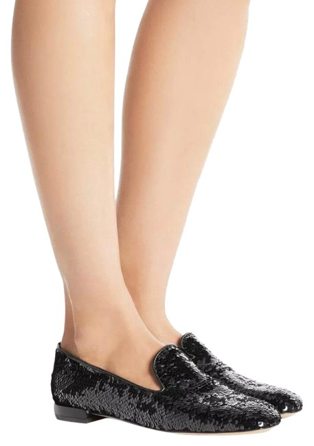 Item - Black Pipearky Women's Loafers Slip On Liquid Sequins Flats Size US 7 Narrow (Aa, N)
