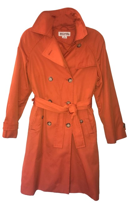 Item - Orange Stylish with Seasonal Lining Coat Size 2 (XS)