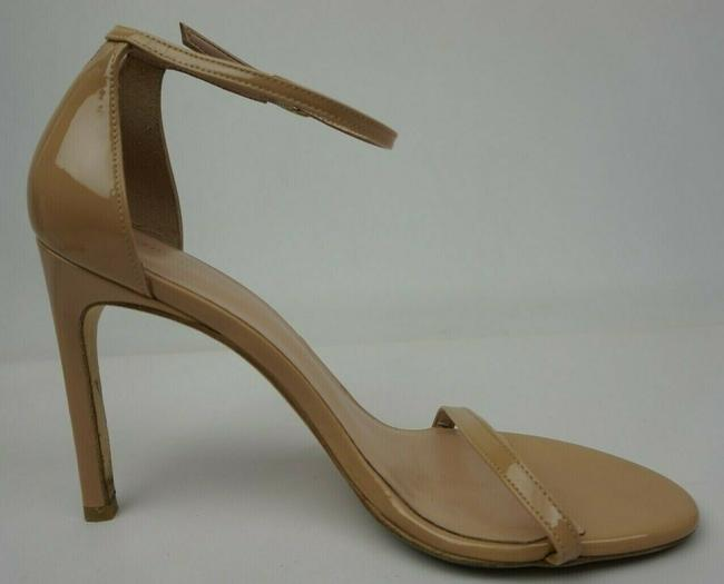 Chanel Leather Ankle Strap Pearl Bow Flat Beige Sandals
