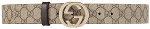 Gucci GG Supreme Belt With G Buckle Size 75