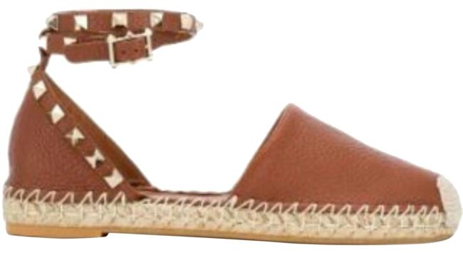 Item - Tan / Brown Women's Garavani Rockstud Espadrilles Flats Size EU 37 (Approx. US 7) Regular (M, B)