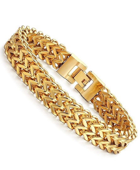 Preload https://img-static.tradesy.com/item/25582965/-14k-yellow-gold-plated-wheat-link-bracelet-0-0-540-540.jpg