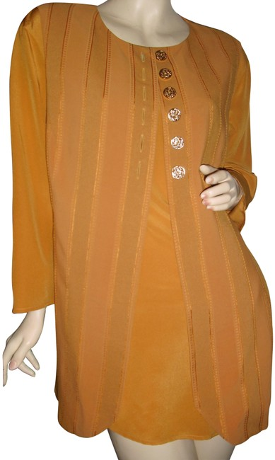 Item - Mustard Yellow Made In Italy Golden Italian Silk Camisole Tunic Size 12 (L)