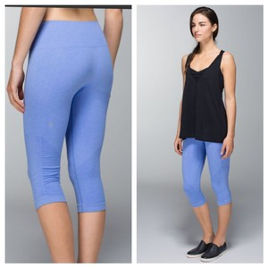 Lululemon Lululemon In The Flow Crop II Heathered Lullaby